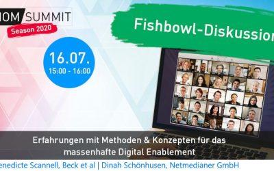 Fishbowl-Diskussion #ioms20: Methoden & Kompetenzen für das digitale Enablement