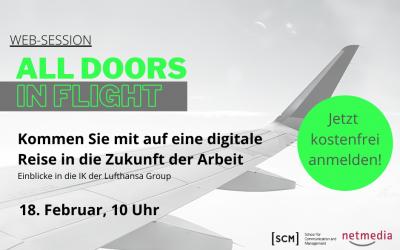 Web-Session: ALL DOORS IN FLIGHT – eine digitale Reise in die Zukunft der Arbeit