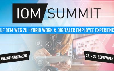 netmedia auf dem IOM Summit 2021 vom 28. – 30. September 2021