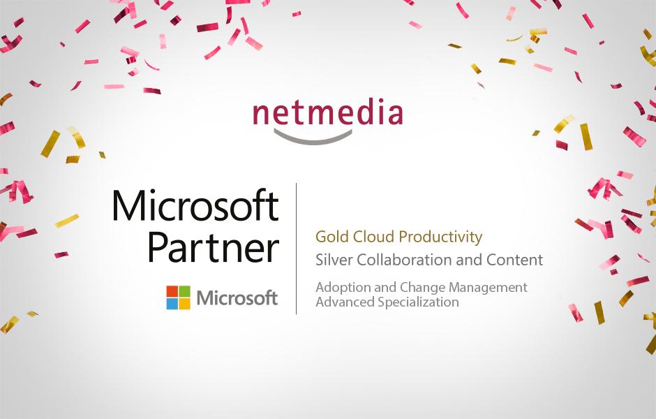 """Erweiterte Microsoft-Zertifizierung """"Adoption and Change Management"""" für netmedia"""